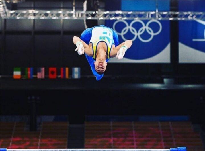 Спортивная гимнастика многоборье Карими Милад квалификация упражнение на перекладине. Удачи Милад